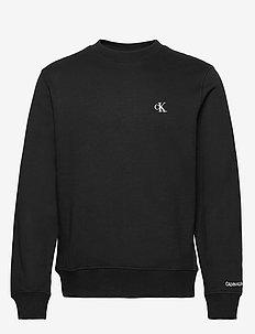 CK ESSENTIAL REG CN - basic sweatshirts - ck black