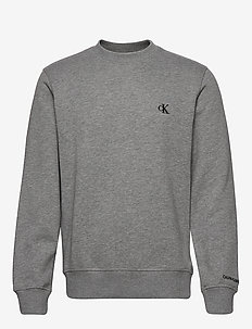 CK ESSENTIAL REG CN - basic sweatshirts - mid grey heather