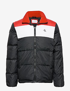 COLOR BLOCK DOWN PUFFER - donsjassen - ck black /racing red