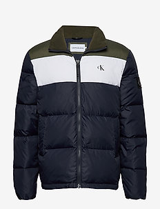 COLOR BLOCK DOWN PUFFER - padded jackets - night sky / deep depths