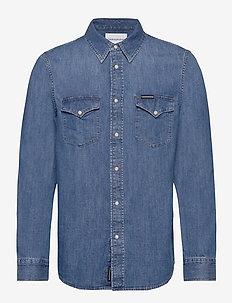 MODERN WESTERN SHIRT - basic overhemden - da042 mid blue