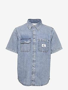 SHORT SLEEVE UTILITY - denimowe koszulki - da043 icn light blue