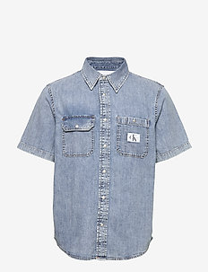 SHORT SLEEVE UTILITY - denim shirts - da043 icn light blue