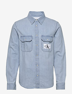 MODERN UTILITY SHIRT - DA040 BLEACHED BLUE WITH EMBRO
