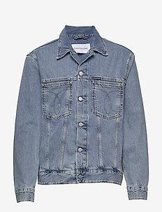 ICONIC OVERSIZED DEN - kurtki dżinsowe - da116 icn light blue