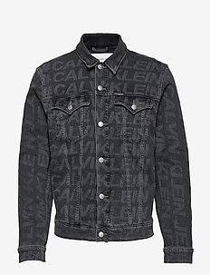FOUNDATION SLIM DENIM JACKET - da123 grey aop