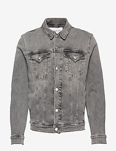 FOUNDATION SLIM DENIM JACKET - da109 light grey