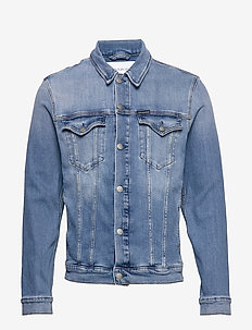 FOUNDATION SLIM DENIM JACKET - da045 mid blue
