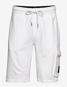 MONOGRAM PATCH HWK SHORT - casual shorts - bright white