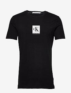 CENTER MONOGRAM BOX - short-sleeved t-shirts - ck black