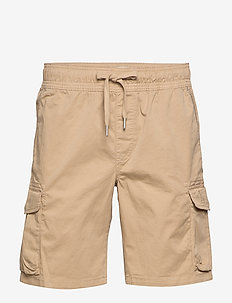 SIMPLE WASHED CARGO SHORT - cargo shorts - travertine