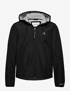 JERSEY LINED HOODED JACKET - ck black/ice grey heater