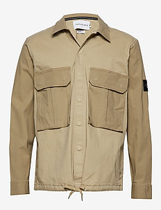 MIX MEDIA TWILL AND - basic shirts - plaza taupe