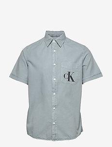 RIBSTOP POPLIN SS SH - chemises basiques - antique grey