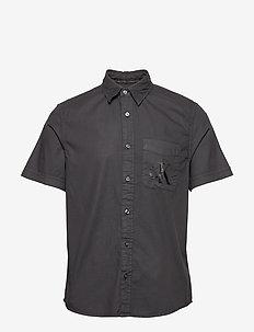 RIBSTOP POPLIN SS SH - basic shirts - ck black