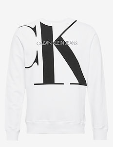 UPSCALE MONOGRAM CREW NECK - sweatshirts - bright white