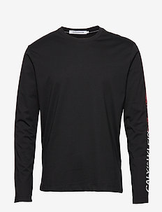 STRIPE INSTITUTIONAL LOGO LS TEE - długi rękaw - ck black