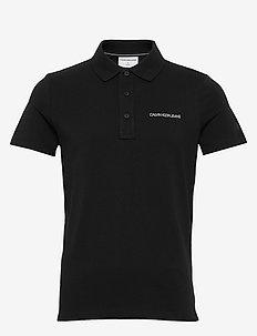 STRETCH INSTITUTIONAL POLO SLIM - short-sleeved polos - ck black