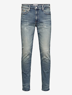 CKJ 058 SLIM TAPER - slim jeans - ab020 bright blue dstr
