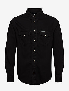 MODERN WESTERN SHIRT - basic skjorter - ab093 washed black
