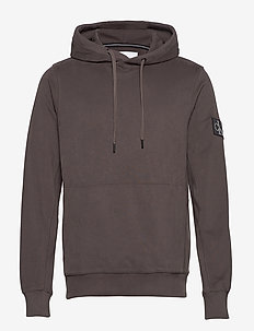 MONOGRAM BADGE HOODIE - hoodies - aluminium grey