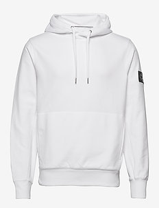 MONOGRAM BADGE HOODIE - hoodies - bright white