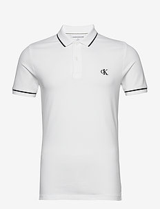 TIPPING SLIM POLO - korte mouwen - bright white