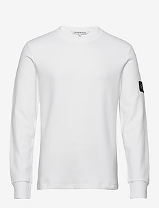 MONOGRAM BADGE LS TEE - svetarit - bright white