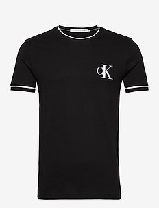 TIPPING CK ESSENTIAL TEE - basic t-shirts - ck black