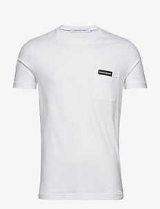 INSTITUTIONAL POCKET TEE - t-shirts basiques - bright white