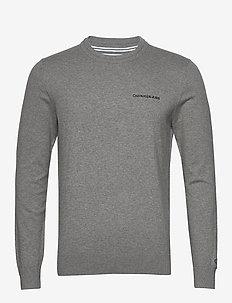 ESSENTIAL CREW NECK SWEATER - basic knitwear - mid grey heather