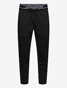 LOGO TAPE SLIM MELANGE JOGGER - sweatpants - ck black heather