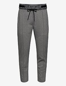LOGO TAPE SLIM MELANGE JOGGER - sweatpants - mid grey heather
