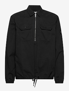 ZIP POP OVER SHIRT - overshirts - ck black