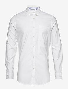 CHAMBRAY SLIM STRETCH - basic overhemden - bright white