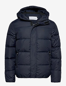 HOODED DOWN PUFFER JACKET - padded jackets - night sky