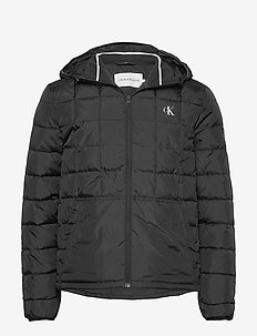 PADDED HOODED JACKET - vestes matelassées - ck black