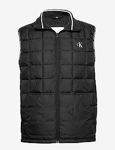 PADDED GILET - vests - ck black