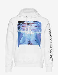 WAVE PHOTOPRINT HOODIE - hoodies - bright white