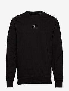 PUFF PRINT CREW NECK - basic sweatshirts - ck black