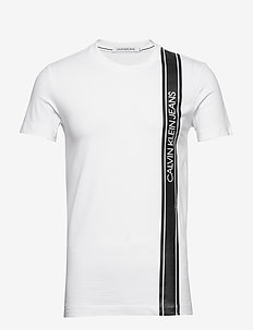VERTICAL LOGO TAPE TEE - t-shirts à manches courtes - bright white