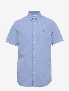 GMD 40' POPLIN SS SHIRT - basic shirts - chambray blue