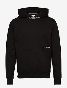 SUBTLE INSTITUTIONAL LOGO HOODIE - basic sweatshirts - ck black