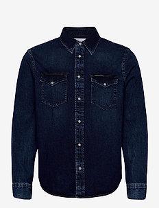 MODERN WESTERN SHIRT - casual overhemden - ab092 mid blue
