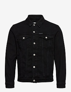 FOUNDATION SLIM DENIM JACKET - spijkerjassen - ab099 washed black