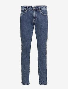 CKJ 026 SLIM - regular jeans - ab081 icn mid blue tape