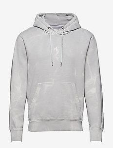 LAVA DYE HOODIE - podstawowe bluzy - antique grey