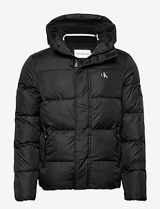 HOODED PUFFER JACKET - gefütterte jacken - ck black