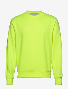 BACK LOGO NEON CREWNECK - sweats basiques - safety yellow