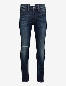CKJ 016 SKINNY - skinny jeans - bb208- dark blue destr
